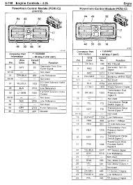 2004 pcm wiring diagram pinout chevy trailblazer trailblazer