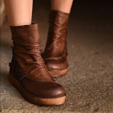 womens boots on sale free shipping aliexpress com buy vintage handmade genuine leather flower ankle