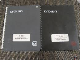 working crown d 150a series i power amp broken crown ic 150 pre
