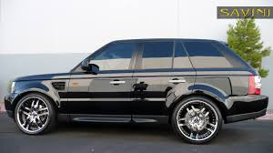 land rover black range rover sport savini wheels