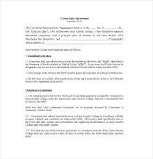 10 consultant agreement templates u2013 free sample example