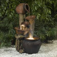 Water Fountain Home Decor by Pentole Pot Fountain With Illumination