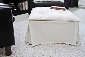 White Fur Ottoman by White Covered Ottoman Coffee Table With Upholstered Tufted Top