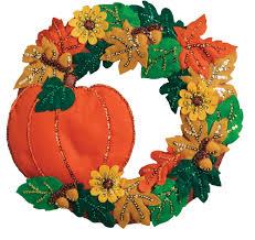 Halloween Wreaths Pinterest by New Bucilla Harvest Halloween Wreath Kit Available At