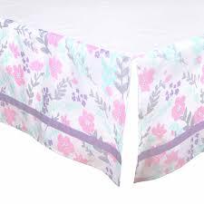 Pink And Aqua Crib Bedding Flower U0026 Dew Drop Crib Starter Set In Purple U0026 Mint
