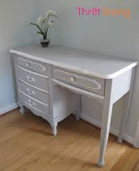contact paper desk makeover how to paint your old french provincial furniture