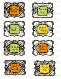 Free Printable Halloween Tags For Gift Bags by Halloween Treat Labels U2013 Festival Collections
