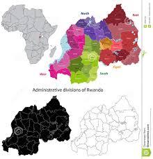 Map Of Rwanda Rwanda Map Stock Photo Image 19002120