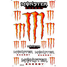 mrs0109 orange m0nster energy decals stickers motorcycle car