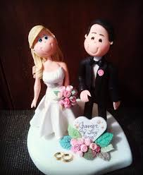a illos de boda novios para tortas de bodas en masa personalizados bs