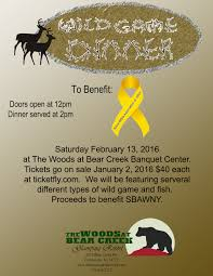 wild game dinner at the woods at bear creek enchanted mountains