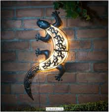 Garden Wall Decoration by Beaded Metal Garden Art Chameleon Wall Decoration Gecko Patio