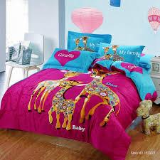 Giraffe Bedding Set 2018 100 Cotton Print Giraffe Bedding Set With