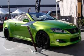 lexus green sema show 2009 lexus lfa u0026 lexus is350c by various tuners make