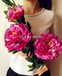 Artificial Peonies 2017 Large Size Peony Flower Fake Peonies For Home Garden Party