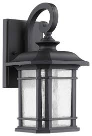 Traditional Sconces Franklin Transitional 1 Light Black Outdoor Wall Sconce 12