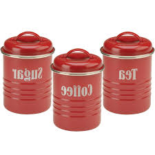 Canister Sets For Kitchen Ceramic Red Canister Set For Kitchen Kenangorgun Com