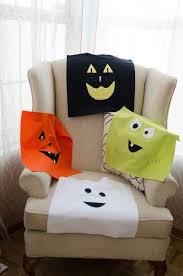 flannel halloween face pillows eighteen25