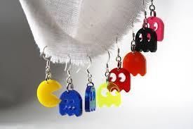 pacman earrings pacman earrings planet rawr