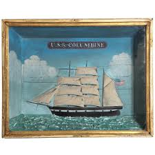 late 19th century naive sailing vessel diorama for sale at 1stdibs