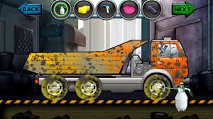 cartoon about cars kids truck video dump truck wash salon