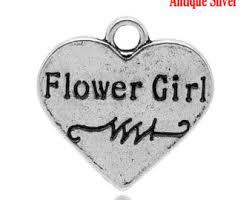 flower girl charms flower girl jewelry etsy