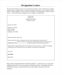 sample letter of resignation 7 examples in word pdf