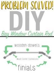Home Depot Drapery Hardware The Secret To Diy Bay Window Curtain Rods From Bay Window