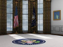 bureau president americain président bureau ovale présidentiel la maison blanche illustration