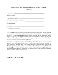 waiver of lien template nevada conditional waiver and release of lien upon payment