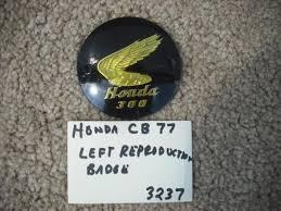 honda cb77 305 superhawk new left badge 3237