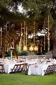 Backyard Wedding Lighting by Defiantly Doing This On One Of The Trees Close To The Seating Area