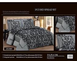 latest 3 pieces bedspread modern flock damask luxury comforter
