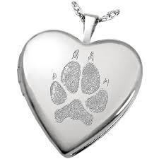 pet memorial necklace noseprint paw print jewelry