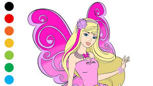 barbie fairy coloring pages art colors kids digital coloring