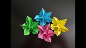 Home Decoration Flowers Diy Simple Origami Paper Flowers Easy Wall Home Decoration