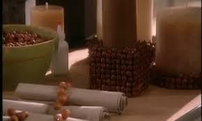 hazelnut candle holders and napkin rings martha stewart