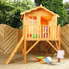 mercia tulip wooden playhouse wendyhouse with tower