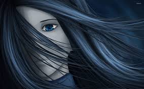 wind art with her hair in the wind wallpaper digital art wallpapers