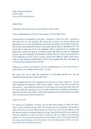 victory christian school letter from graduate s parents