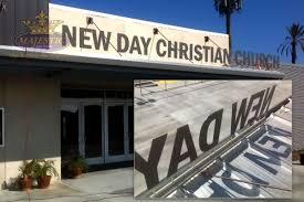 church sign flat cut aluminum letters business signs