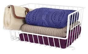 amazon com whitmor wire stackable basket white home u0026 kitchen