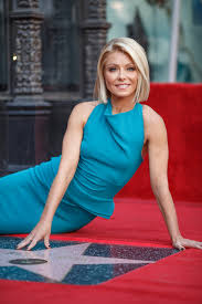 former qvc host with short blonde hair kelly ripa photos photos kelly ripa honored with star on the
