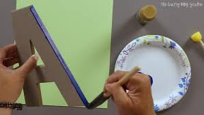 Monogram Letters Home Decor How To Decorate Monogram Letters The Crafty Blog Stalker