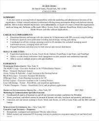 executive assistant resume templates 6 administrative assistant resume templates free sle