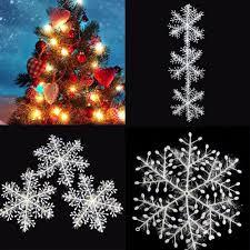 11cm 30pcs plastic white snowflakes festival tree