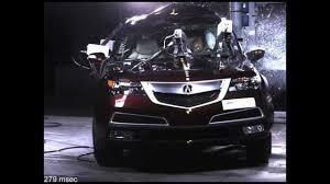 josh lexus of kelowna acrua mdx pole crash test 2013 high speed camera nhtsa