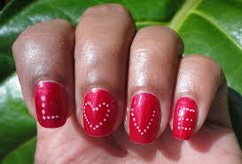 we have a heart on for valentines day nail art 1