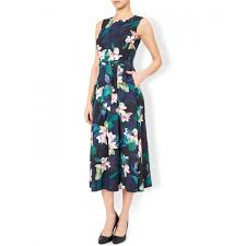 monsoon dresses monsoon dresses hot sale monsoon magnolia print fit flare midi