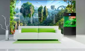 large wall mural fantasy wallpaper islands colorful wall decor